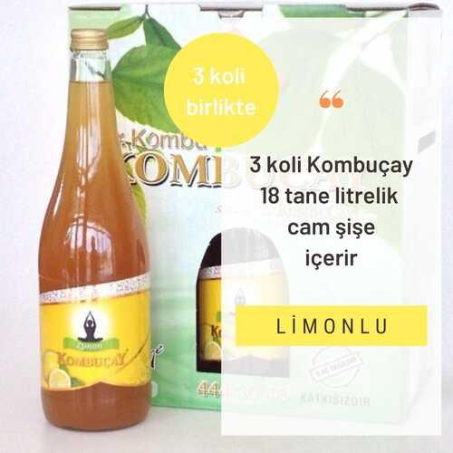 Kombuçay Limonlu 3 KOLİ