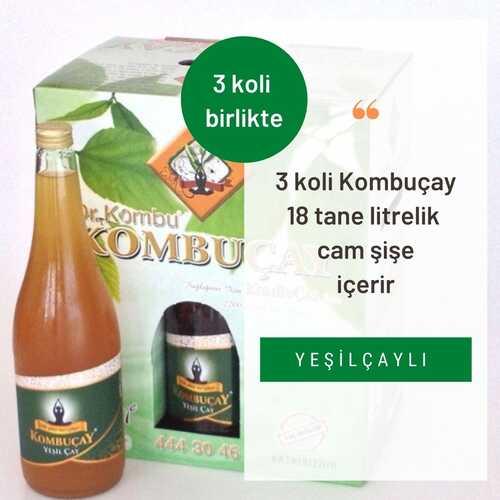 KOMBUÇAY - Kombuçay Yeşilçaylı 3 KOLİ